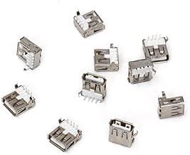 SODIAL (R) 10pcs USB tipo-A zocalo de 90 grados hembra de conector enchufe de Reparacion