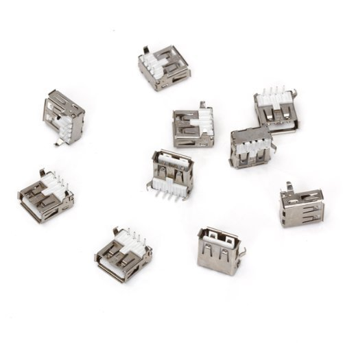 LEXPON 10 Stk. USB Typ-A Buchse 90 Grad Buchse Buchse fuer Reparatur
