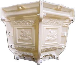 38cm /14.96in ABS Interlock Hexagonal Durable Home Gardening Bonsai DIY Lotos Flower Embossing Concrete/Cement Flower Pot ...