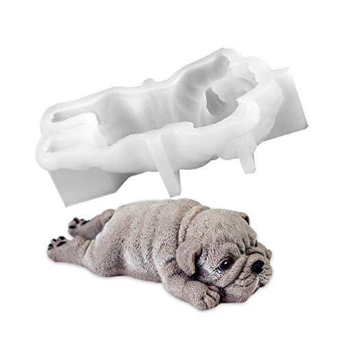 SEVENHOPE 3D Shar Pei Hund Form Silikonform Schokolade Pudding Fondant Mousse Kuchen Dekoration Backform