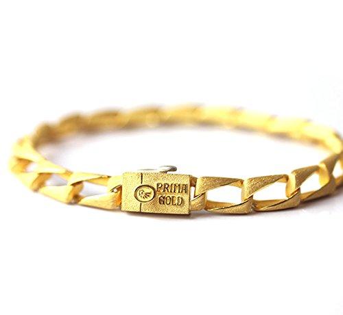 PRIMAGOLD(プリマゴールド) 24金メンズジュエリー 純金ブレスレット 24K 純金 K24YGメンズ 男性用 イエローゴールド
