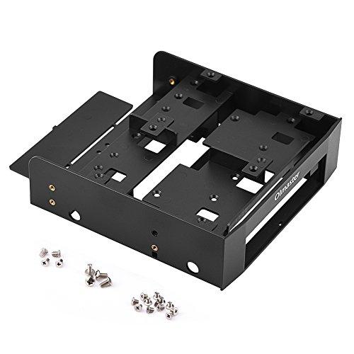 Adaptador de unidad de disquete de plástico, 2.5in / 3.5in HDD / SSD a 5.25in. Soporte de montaje para computadora de la bahía de la unidad de disquete, Compatible con la bahía estándar de PC de