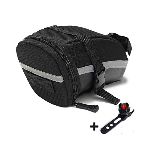 JATrade Fahrradtasche mit Gratis Rücklicht - Wasserdichte Satteltaschen für Fahrrad, Mountainbike, Rennrad, MTB, E-Bike - Edle Rahmentasche für dein Smartphone, Fahrrad Flickzeug, Fahrrad Zubehör