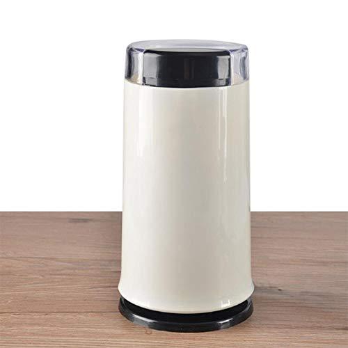 CTDMMJ Molinillo de café en Grano eléctrico Hierbas eléctricas Especias Nueces Granos Molinillo de café en Grano Molino Molino Herramienta de Bricolaje Medicina casera Harina Po-Blanco