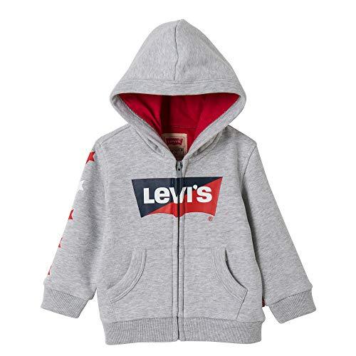 Levi's Kids Jungen Nn17004 Waistcoat Sweatshirt, Grau (Light China Grey 22), 3 Jahre (Herstellergröße: 36M)