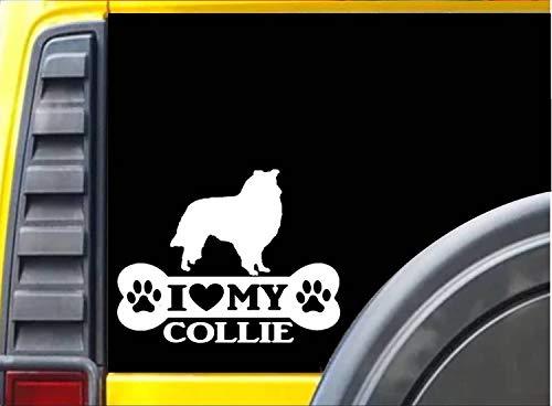 Lplpol Lustiger 15,2 cm Vinyl-Aufkleber Collie Knochen Aufkleber Rettungshund Aufkleber Stoßstange Aufkleber für Fenster, Autos, LKW, Laptops, Wasserflasche