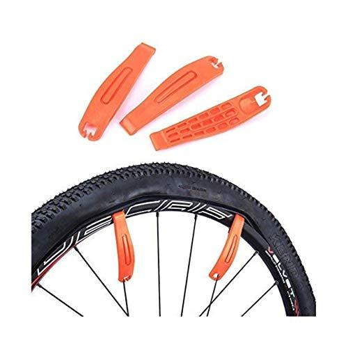 JZK 3 Palancas de neumáticos de Bicicleta Premium endurecido plástico de Nylon Kit de Herramientas...