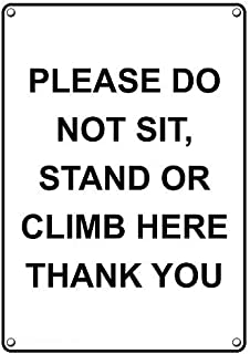 please don't sit here sign