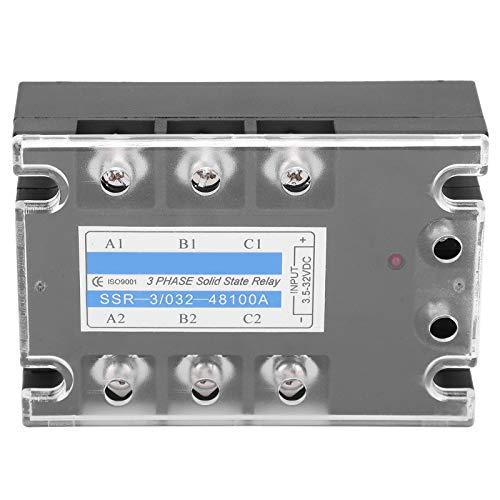 Entrada eléctrica de relé de estado sólido trifásico Les-Theresa SSR ‑ 3/032‑48100A CC controlada AC 480V