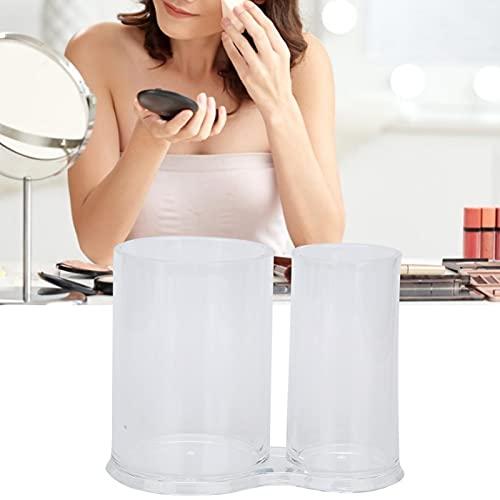 Qqmora Caja de Almacenamiento de cosméticos Caja de hisopos de algodón Acrílico para el hogar con Tapa para salón para baño