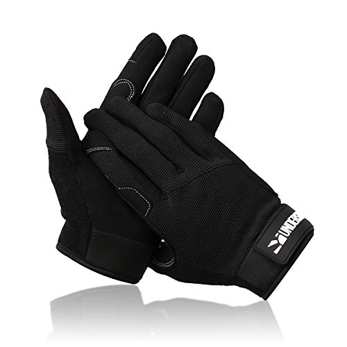 Undersun Fitness Microfiber Hand Protector Full Finger Workout Gloves - Large. Specifically for Resistance Bands Training Designed by James Grage - Unisex for Men and Women
