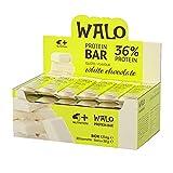 4+ NUTRITION - Walo Crockbar, Suplemento Deportivo, Barritas Proteicas, Sin Grasas Hidrogenadas, con Proteínas de Suero, Sabor Chocolate Blanco, 30 piezas