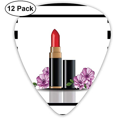 Guitar Pick Classic Picks 12er-Pack Lippenstift-Make-up-Karte personalisiert