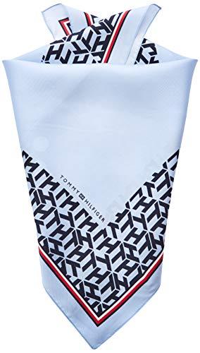 Tommy Hilfiger Damen Silk Bandana Schal, Blau (Sky Captain CJM), One Size (Herstellergröße: OS)