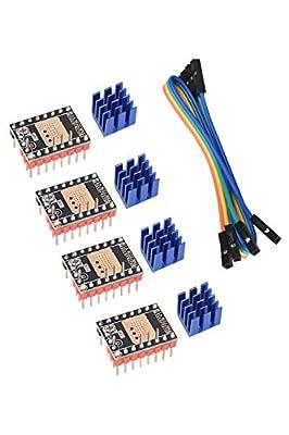 BIGTREETECH TMC2226 V1.0 Stepper Motor Drive Module 2.8A Peak Driver 3D Printer Parts for SKR V1.3/ V1.4 Turbo, SKR PRO V1.1 Controller Board (Pack of 4pcs)