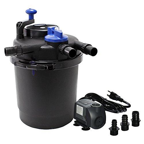 SUN Grech CPF-2500 Pond Bio Pressure Filter UVC 13-watt Up to 1600 Gallons (CPF-2500 + 720GPH Pump)