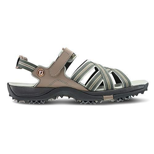 FootJoy Women's Sandals Golf Shoes Beige 8 M, tan/light Grey, US