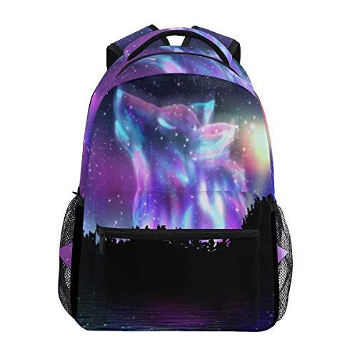 Wolf Girls Backpacks for Elementary School Bookbag 3rd 4th 5th Grade