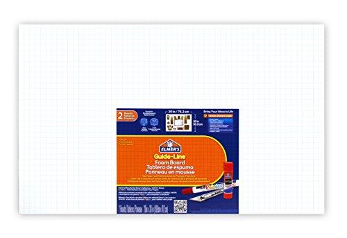 """Guide-Line Foam Boards, 20 X 30"""", White, 2-Count (905100)"""