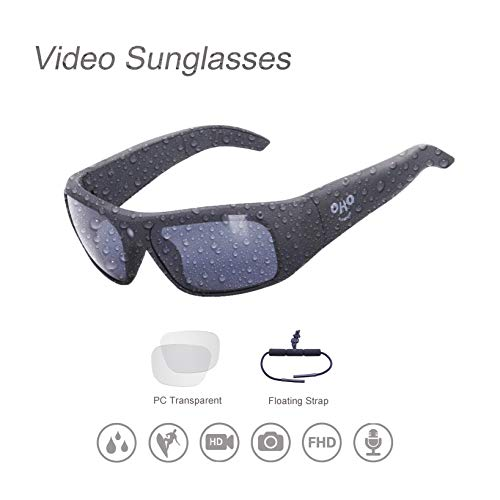 64GB Waterproof Video Sunglasses,Xtreme Sporting 1080P Ultra HD Video Recording Camera and Polarized UV400 Protection Safety Lenses
