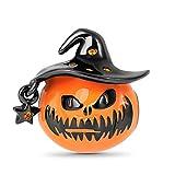 GNOCE Halloween Horror Charm Perle Sterling Silber Kürbis Charm Perle mit Zauberer Hut Schwarz Passst Alle Armband/Halskette Geschenk für Frauen Mädchen