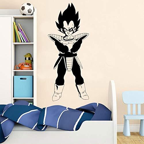 Tianpengyuanshuai Dragon Ball Anime Wandaufkleber Dekoration Kinderzimmer Dekoration Vegeta Vinyl Wandtattoo 24X57cm