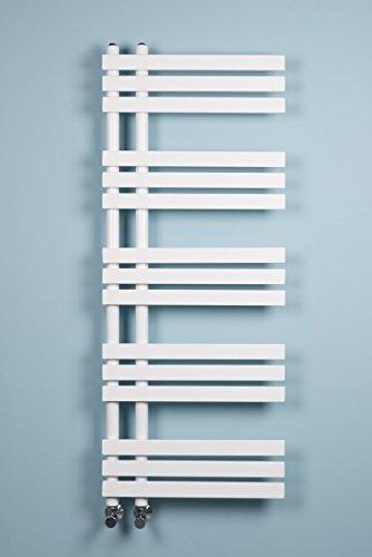Warmehaus Designer Handtuchheizkörper Badheizkörper 1272x500mm weiß