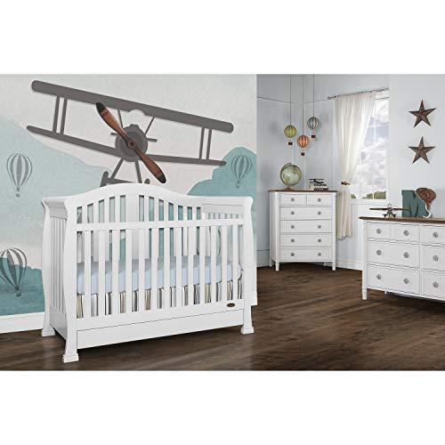 Dream On Me Addison 5-in-1 Convertible Crib, White, Full Size Crib