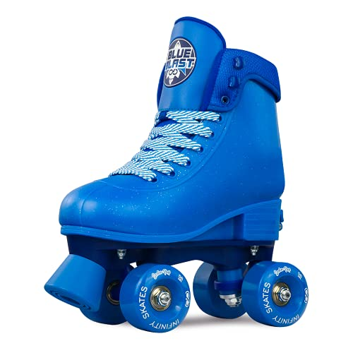 Crazy Skates Soda Pop Adjustable Roller Skates for Girls and Boys - Adjusts to fit 4 Shoe Sizes - Blue Blast (Size: Medium | Sizes 3-6)