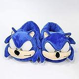 Zapatillas de Felpa Sonic Super Mary Sonic The Hedgehog Peluches Mujeres Hombres Dibujos Animados Zapatillas de casa de Felpa Moda Casa de Invierno Zapatos de Interior Juguetes Blandos Muñecas