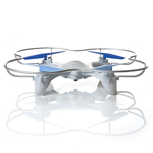 WowWee Lumi™ Easy-to-Fly Drone with Follow-Me Beacon – White and Blue
