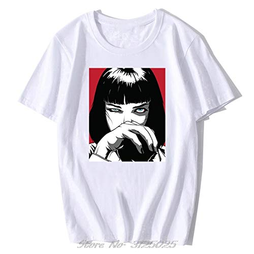 Quentin Tarantino Pulp Fiction MIA Vintage Men/Women Fashion Men Cotton Movie 90S T-Shirt Streetwear Punk Rock Aesthetic Clothes