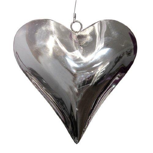 Edelstahlherz, Herz Anhänger. Ca 14 cm.