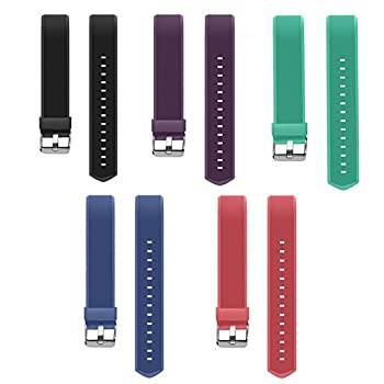 AndThere ID115 Plus HR Replacement Band with Adjustable Length Replacement Strap for ID115 Plus HR Fitness Tracker,Black,Purple,Red,Green,Blue