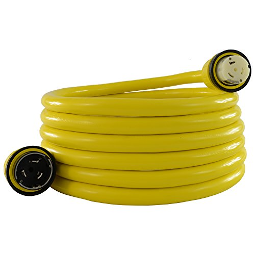 Conntek 17305-050RE: 50 Amp 125/250-Volt Marine Shore Power 4 Wire Extension Cord with Threaded Ring (50 FT)