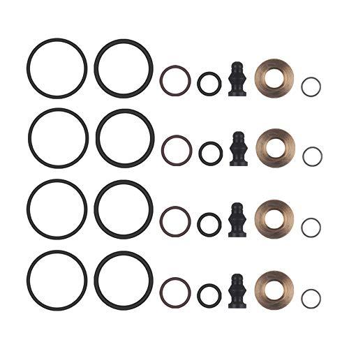 VISLONE Kit de reparación de Sello de inyector de Combustible 4 Juegos de Repuesto Genuino para Au-di A2 A3 A4 A6 Skoda Seat VW 1.4 1.9 2.0TDI 1417010997