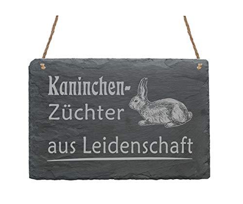 Schiefertafel Kaninchenzüchter aus Leidenschaft - Schild Hase