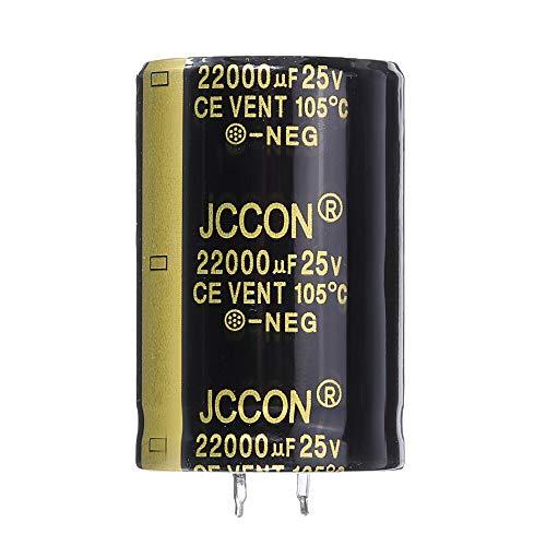 Condensadores 22000UF 25V 30x45mm Radial Condensador electrolítico de Aluminio de Alta frecuencia de 105 ° C 5Pcs