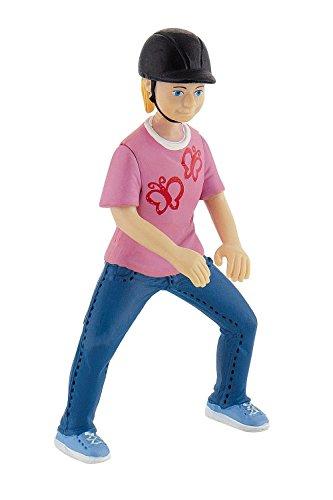 Bullyland 62643 - Spielfigur, Reitermädchen Emily, ca. 8,3 cm groß, liebevoll handbemalte Figur, PVC-frei, tolles Geschenk für Jungen und Mädchen zum fantasievollen Spielen