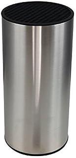 Bloc à couteaux cylindrique et compact en acier inoxydable de Coninx – pour le rangement de couteaux de manière organisée,...