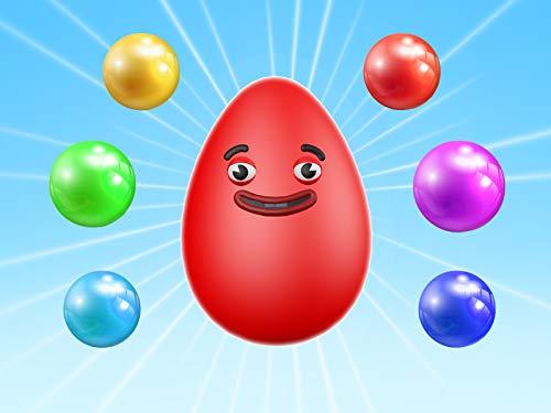 Lernen Sie Farben mit Eiern und Bällen