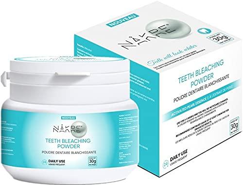 NAKRE® Poudre de blanchiment dentaire, Plus de 40 utilisations, Efficace, Aucune sensibilité, Facile d'utilisation, Un sourire éclatant, Arôme naturel de menthe