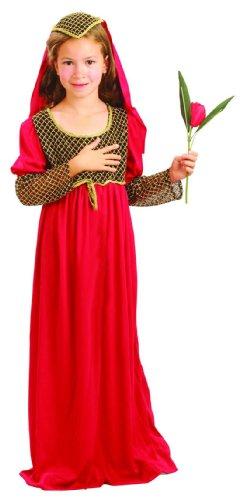 Deguisement-discount - Déguisement princesse juliette bordeaux fille 5-6 ans