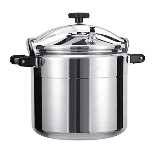 GHKWXUE roestvrijstalen druippan, grote capaciteit beschikbaar multi-kok slow cooker stoomkoker en wok soepppan, introductiebasis voor thuis restaurant hotel, 15L-40L