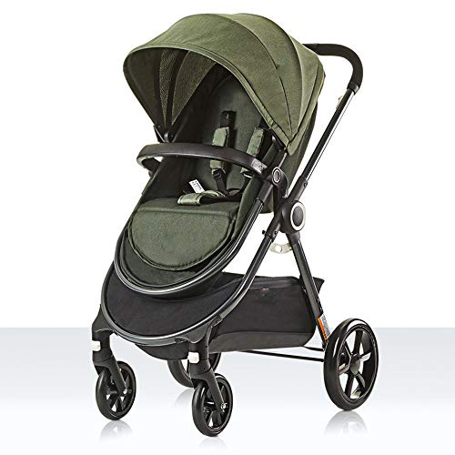 Lowest Price! 3 in 1 Baby Stroller Comfortable and Breathable Convenient Crib High Landscape Four-Wh...
