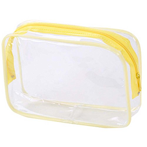 4 Pics Transparent Waterproof PVC Pouch Cosmetic Bag Wash Bag