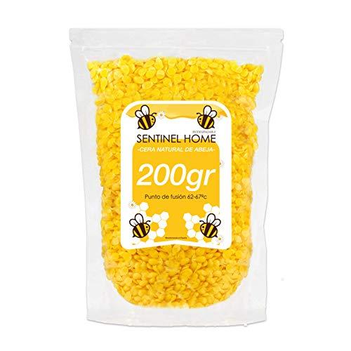 (200gr) Cera de abeja premium en perlas amarillas para fabricar productos naturales y ecológicos.