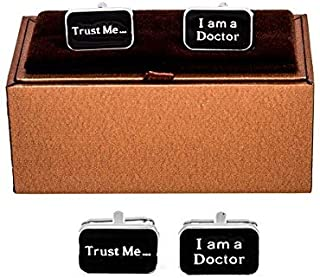 Doctor MD RN EMT Pair Cufflinks in Presentation Gift Box & Polishing Cloth
