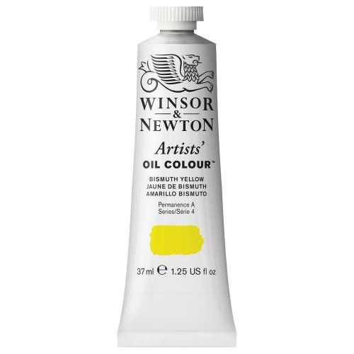 Winsor & Newton 1214025 Artists oljefärg – 37 ml tub, konstgjord oljefärg med högsta möjliga pigmentering, högsta ljusäkta – dimgul