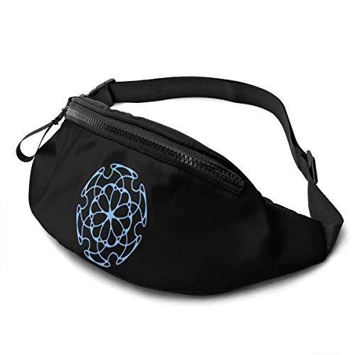 AOOEDM Waist Bag for Men Women, Cool Design Casual Outdoor Waist Bag for Workout Travel Hiking